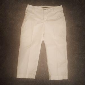 Eddie Bauer Crop Cotton White Jeans